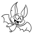 halloween bat cartoon bat icon vector image