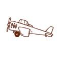 Hand Drawn Light Aircraft vector image