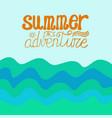 hand written summer lettering vector image