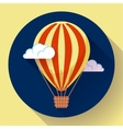 hot air balloon icon in the sky vector image