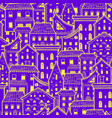 houses new pattern 2 vector image vector image