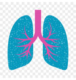 lungs icon cold cough and acute bronchitis lung vector image