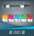 marker education icon business infographic vector image vector image
