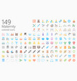 maternity colored flat iconset vector image vector image