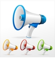 megaphone on white background vector image vector image