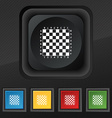 Modern Chess board icon symbol Set of five vector image vector image