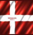 national denmark flag background vector image