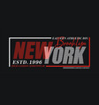 new york sport typography design usa style vector image vector image