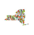 new york state abstract rectangular color pattern vector image vector image