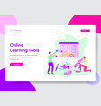 online learning tools concept vector image