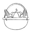 Pumpkins and corns design