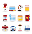 realistic business and firm icons vector image vector image