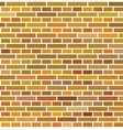 Red brown brick wall seamless background vector image