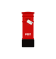 Red mail post box isolated vector image vector image