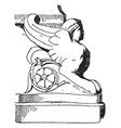 roman sphinx is the bust of a woman with wings vector image
