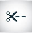 scissors line icon simple flat element design vector image vector image