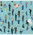 seamless tile people in office office vector image vector image