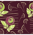 seamless vintage rose pattern background vector image vector image