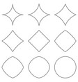 set geometric shapes transition from star vector image vector image