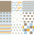 set of baby boy patterns seamless pattern vector image vector image
