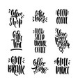 set of lettering phrases vector image