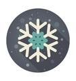 Snowflake flat icon vector image vector image