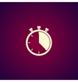 Stopwatch icon Flat design vector image vector image