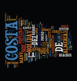 the costas of andalucia text background word vector image vector image