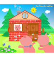 The three little pigs very scared vector image vector image