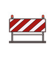 traffic barrier flat icon colorful silhouette vector image vector image