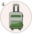 travel bag icon vector image vector image
