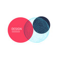 trendy abstract sphere modern science technology vector image