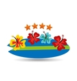 vacation surf beach recreation game vector image vector image
