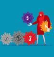viruses that evolved increasing level vector image