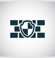 wall shield icon for web and ui on white vector image vector image