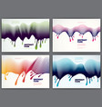 wave lines fluid abstract backgrounds set 3d vector image vector image