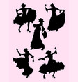 woman dancing flamenco silhouette 03 vector image