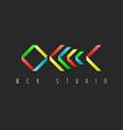 Skeleton fish colorful design logo restaurant idea vector image