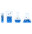 Chemical test-tube vector image