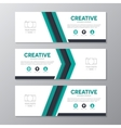 Corporate business banner template horizontal vector image