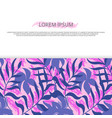 background banner with clorful hawaii leaves vector image