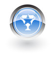 glossy icon trophy winner vector image