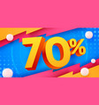 70 percent off discount creative composition 3d
