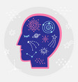 astrology zodiac symbols elements in human head vector image