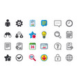 bank loans icons fill document and get money