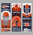 basketball sport team game banners vector image