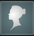 beautiful female profile vector image vector image