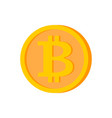 bitcoin coin isolated cryptocurrency on white vector image vector image
