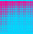 blue and pink dotted halftone background vector image