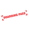 boarding pass rubber stamp vector image vector image